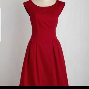 Gorgeous red A-line dress